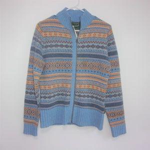 Woolrich Fair Isle Sweater Full Zip Cardigan